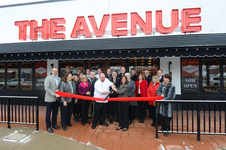 Ribbon cutting ceremony at The Avenue Grandview Heights