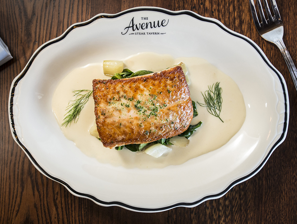 Atlantic salmon dish
