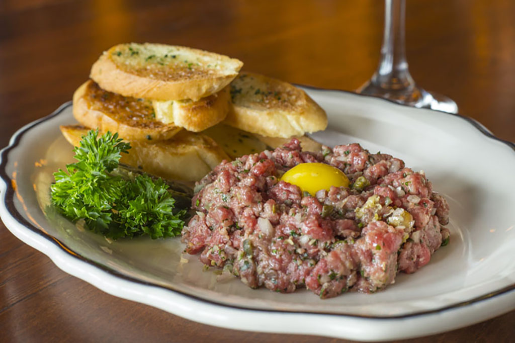 Steak tartar appetizer
