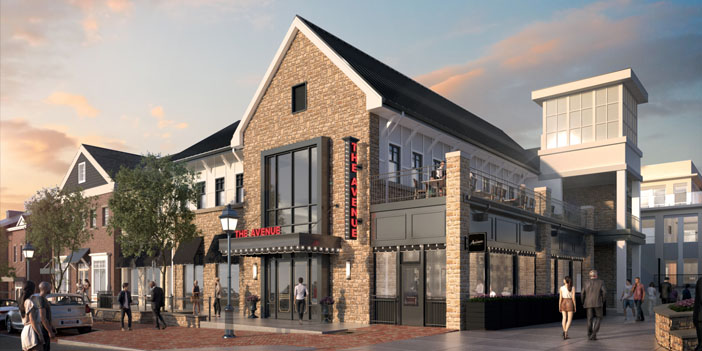 rendering of exterior of the Avenue Dublin