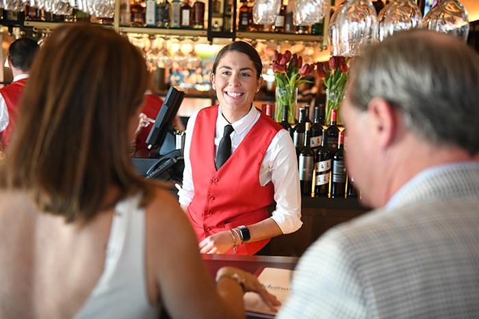 A friendly bartender