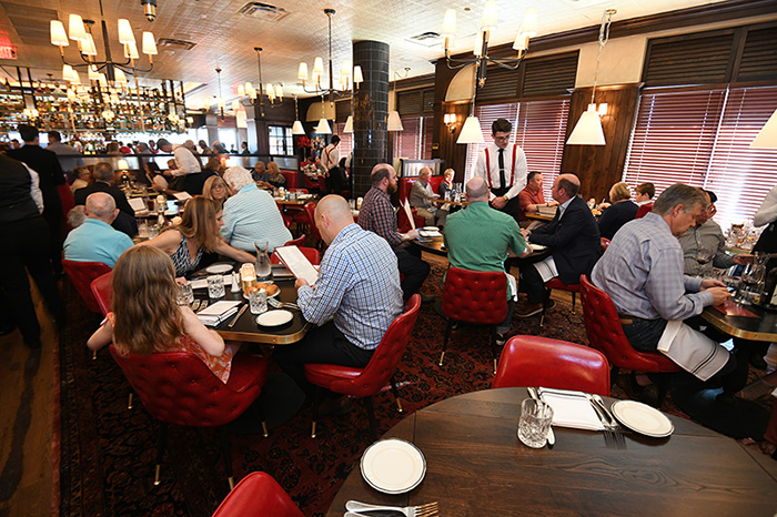People enjoying meals in The Avenue Dublin